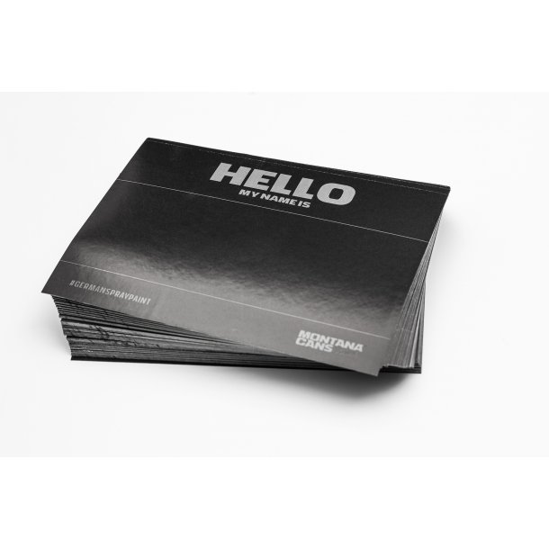 Montana HELLO Sticker BLACK